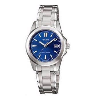 Casio Standard นาฬิกาข้อมือผู้หญิง สายสแตนเลส รุ่น LTP-1215A-2A2DF (สีน้ำเงิน)