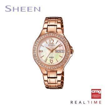 Casio Sheen นาฬิกา SHE-4800PG-9AUDR ประกันศูนย์ CMG (Pink Gold)