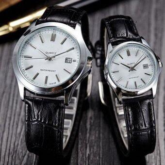 SA128 นาฬิกาข้อมือสายหนังผู้ชายผู้หญิงธุรกิจนาฬิกาควอทซ์คล้ายคลึงของขวัญ-