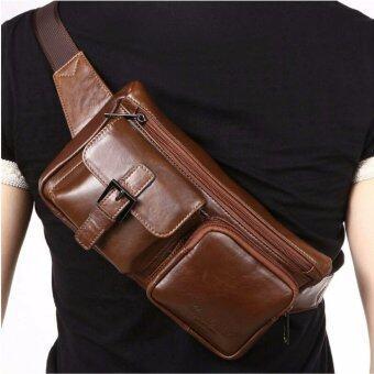SAPA กระเป๋าคาดอกคาดเอว หนังแท้ ใช้ได้ทุกเพศทุกวัย รุ่น SPF21