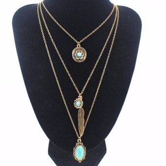 Harga Multiple Layers Bohemian Style Enthnic Fashion Necklace Jewelry (15017) - intl