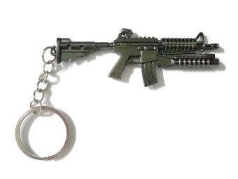 Cool no.9 พวงกุญแจรูปปืน M4A1 + เครื่องยิงลูกระเบิด (สีดำชุบ)