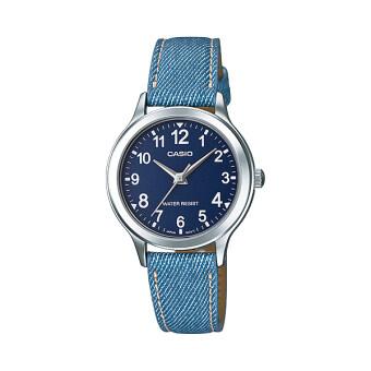Casio Standard นาฬิกาข้อมือผู้หญิง สายหนัง รุ่น LTP-1390LB-2BDF - สีน้ำเงิน