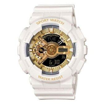 เช็คราคา S SPORT นาฬิกาข้อมือ กันน้ำได้ ได้ทั้งชายและใส่หญิง - GP9210 (White/ Gold) มาใหม่