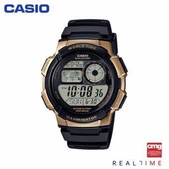 Casio Standard นาฬิกา AE-1000W-1A3VDF ประกันศูนย์ CMG (Black/Gold)