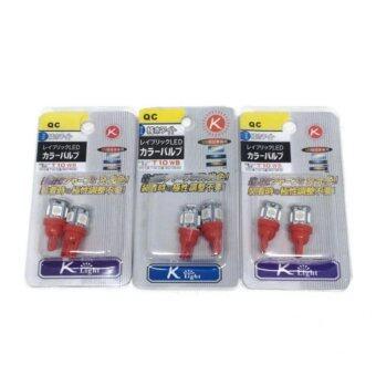 Thailand หลอดไฟหรี่ รุ่น T10LED5B (สีแดง) 3 คู่