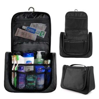 TravelGear24 กระเป๋าเครื่องสำอางแขวนได้แบบพกพา ตอนเดียว (Black/สีดำ)