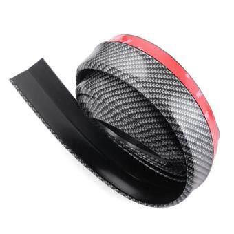 ลิ้นยาง สเกริตหน้า Lip Skirt ยางกันกระแทก ลิ้นหน้า ความยาว 2.5 เมตร ลิ้นซิ่ง สไตล์ ญี่ปุ่น มีกาว 2 หน้า พร้อมติดตั้ง (Carbon Black-N)