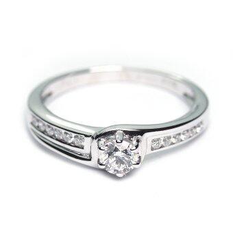 Diamond First แหวนเพชรแท้ ทองคำแท้ - DF205028