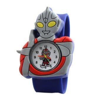 แฟชั่นนาฬิกาเวอร์ชันการ์ตูนเด็กถามคุณภาพสูงอุลตราแมนนาฬิกาข้อมือน้ำเงิน