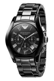 Emporio Armani นาฬิกาข้อมือผู้ชาย Black สายสเตนเลสรุ่น AR1400