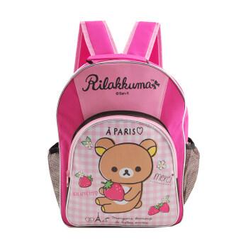 Rilakkuma กระเป๋าเป้ กระเป๋านักเรียนสะพายหลัง (สีชมพู)