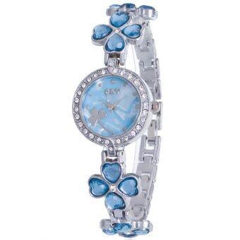 MEGA Lady Jewelry Luxury Fashion Bracelet Watch นาฬิกาข้อมือผู้หญิง สายสแตนเลส Kimio Style รุ่น K456 (Blue)