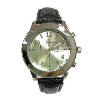 (New) GENEVA watch นาฬิกาข้อมือแฟชั่นผู้หญิง สายหนังหลากสี หน้าปัดเงิน รุ่น WM0096-99