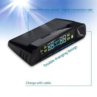 แรงดันลมยางรถพลังงานแสงอาทิตย์ระบบการ Tpms 4 เซ็นเซอร์นอกจอสี