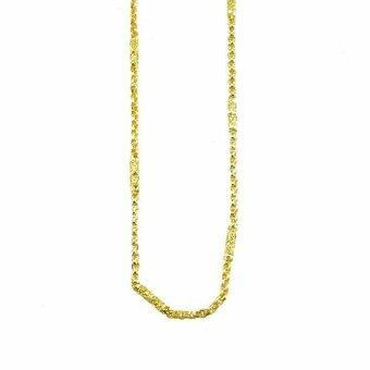 Tfine สร้อยคอ2บาท24นิ้วแท่งหล่อตัดลายท่าโร่ชุบทอง(Gold)