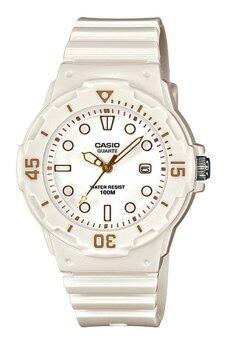Casio Standard นาฬิกาข้อมือผู้หญิง สีขาว สายเรซิ่น รุ่น LRW-200H-7E2VDF