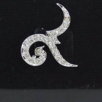 Pearl Jewelry เข็มกลัดไว้อาลัย เลข 9 สีเงิน คุณภาพเลิศ DIY24