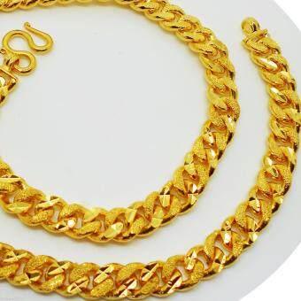 Thai Jewelry สร้อยคอทองคำ งานชุบทองไมครอน ชุบด้วยเศษทองคำแท้ 96.5 % หนัก 5 บาท ยาว 18 นิ้ว