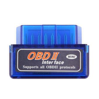 โอ้ ELM327 OBD2 บลูทูธอัตโนมัติเครื่องมือวินิจฉัยเบื้องต้นรถอินเตอร์เฟซ (สีน้ำเงิน)