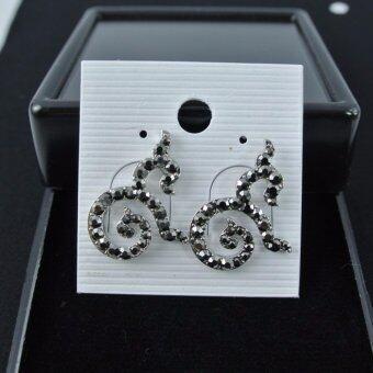 Pearl Jewelry ต่างหู 9 มหามงคล แมกกาไซด์ สีเงิน A7