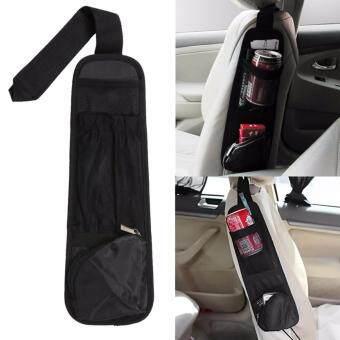 MeDiscount กระเป๋าเก็บของด้านข้างเบาะรถยนต์ Car Storage Bag (สีดำ)