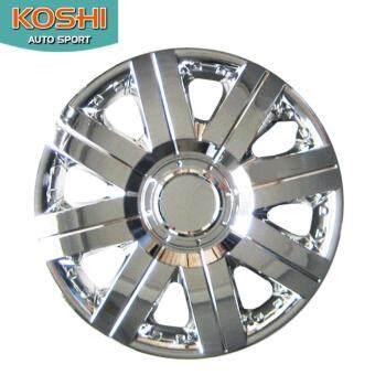 Koshi wheel cover ฝาครอบกระทะล้อ 14 นิ้ว ลาย 5056C (4ฝา/ชุด) ชุบโครเมี่ยม