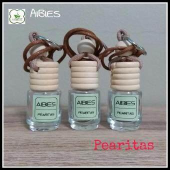 aibies [กลิ่นไวท์ทีและกีวี] น้ำหอมรถอโรม่า ปลอดแอลกอฮอล์ ขนาด 2.5 mL - 3 ชุด