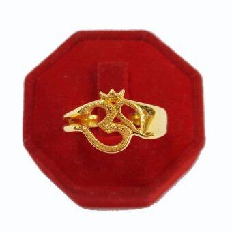 Little Saint Silver.แหวน ทองเหลืองหุ้มทอง รูปโอม