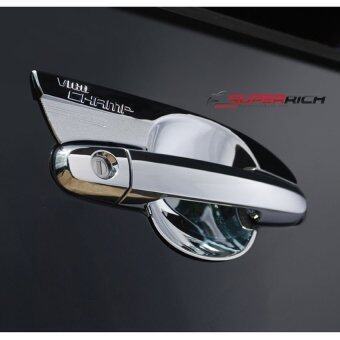 TFP ถาดรองมือเปิดประตู กันรอยประตู โครเมี่ยม (Door handle) / VIGO CHAMP 2011