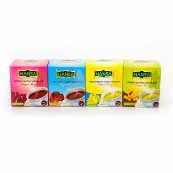 Khaolaor ชุดเครื่องดื่มรวมรส ปราศจากน้ำตาล ตราหรรษา หอม ชื่นใจจากธรรมชาติแท้ๆ 4กล่อง โดย ขาวละออ