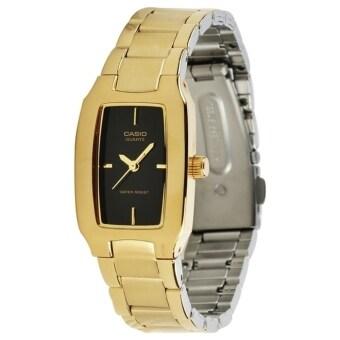 Casio Standard Lady นาฬิกาข้อมือผู้หญิง สีทอง/สีดำ สายสแตนเลสสตีล รุ่น LTP-1165N-1C