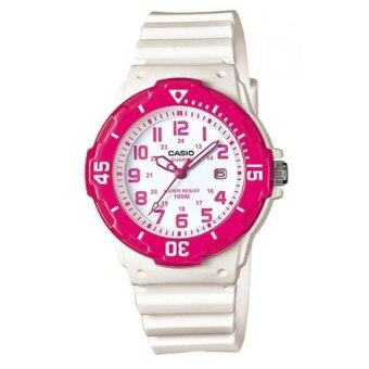 Casio standard นาฬิกาข้อมือ สายเรซิ่น รุ่น LRW-200H-4BVDF – White/Pink