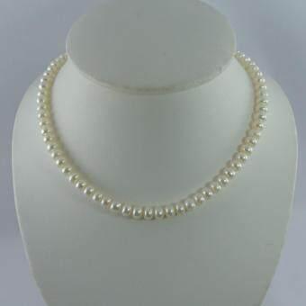 Pearl Jewelry สร้อยคอไข่มุกแท้ 8 มิล สีขาว(White)