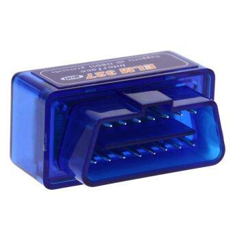 มินิ ELM327 V2.1 บลูทูธ OBD2 OBDII Scanne วินิจฉัยรถรถยนต์สีน้ำเงิน