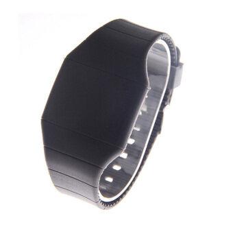 นาฬิกา led 2559คนผู้หญิงสร้อยข้อมือนาฬิกาข้อมือแบบดิจิทัลวันนาฬิกาข้อมือกีฬา (สีดำ)