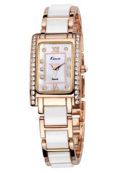 Kimio นาฬิกาข้อมือผู้หญิง สีขาว/ทอง สาย Alloy รุ่น KW510