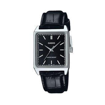 Casio Standard นาฬิกาข้อมือผู้ชาย รุ่น MTP-V007L-1EUDF (สีดำ)