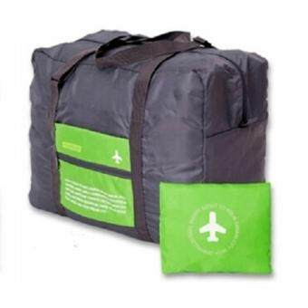 TravelGear24 กระเป๋าเดินทางแบบพับได้ (Green/สีเขียว) ล็อกกับกระเป๋าเดินทางได้ Travel Foldable Bag กระเป๋าพับได้ กระเป๋าเดินทางพับได้ (image 1)