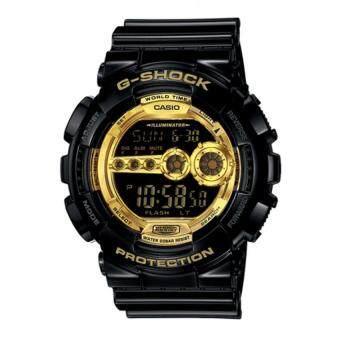 Casio G-Shock ผู้ชายสีดำยางรัดนาฬิกา GD-100GB-1