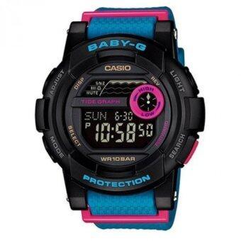 Casio Baby-G นาฬิกาข้อมือผู้หญิง สีดำ สายเรซิ่น รุ่น BGD-180-2DR