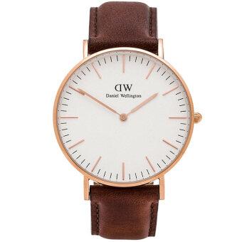 Daniel Wellington 0106DW Classic St Mawes 40mm นาฬิกาข้อมือ แฟชั่น ผู้ชาย สายหนัง สีน้ำตาล Men Watch - Brown