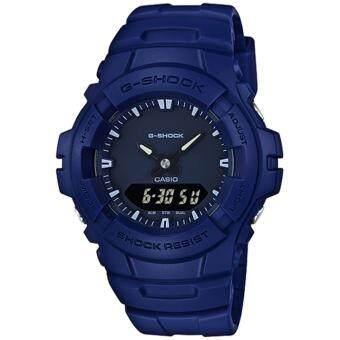 Casio G-Shock นาฬิกาข้อมือผู้ชาย สายเรซิ่น รุ่น G-100CU-2 - สีน้ำเงิน