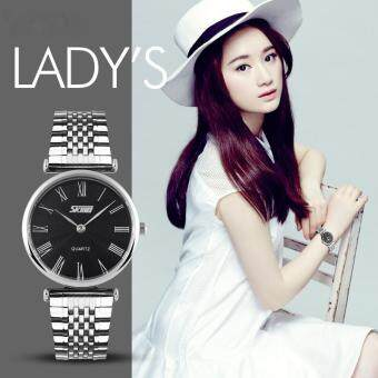 แฟชั่นผู้หญิง SKMEI นาฬิกาย้อนยุคสำหรับคนรักสีดำ (นานาชาติ)