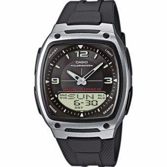 Casio Standard นาฬิกาข้อมือผู้ชาย สีดำ สายเรซิ่น รุ่น AW-81-1A1