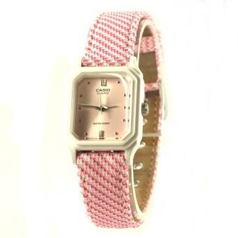 Casio Lady นาฬิกาข้อมือ ผู้หญิง สายผ้า รุ่น LQ-142LB-4A2 – สีชมพู