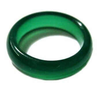 TANITTgems แหวนหยกแก้วสีเขียวเข้มสวย
