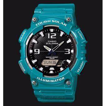 Casio Standard นาฬิกาข้อมือ สายเรซิ่น รุ่น AQ-S810WC-3AVDF - สีฟ้า (ประกันCMG)
