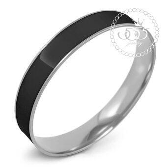 555jewelry กำไลสำหรับสุภาพสตรี รุ่น FSBG128-A1(Black/ Steel)