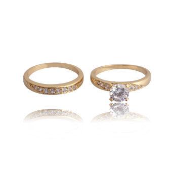 แหวนคู่บ่าวสาว 18กิโลไบต์ทองชุบ